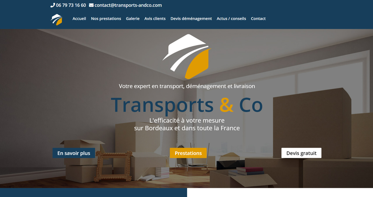 Changement de CMS pour le site de Transport and Co