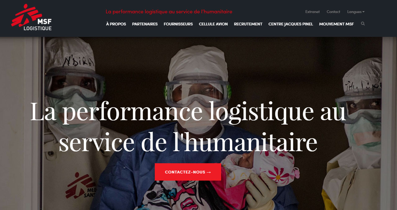 New website for MSF Logistique