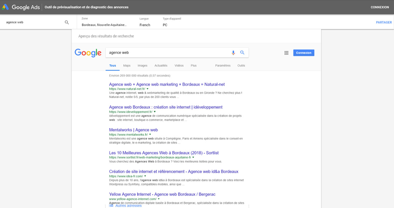 comment connaitre sa position sur le moteur de recherche google